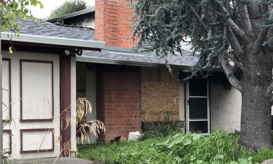 Santa Clara House Fire Charring on Side of House Landscape, Early Morning Fire Sends Three People to the Hospital, Santa Clara Fire Department Battalion Chief Drew Miller