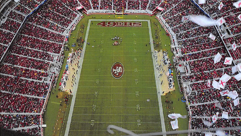 Federal prosecutors Tracy Michael Mapes Violation of National Defense Airspace Drone Dropping Flyers on Levis Stadium