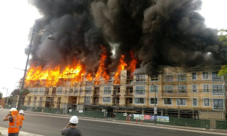 Fire El Camino Real injured