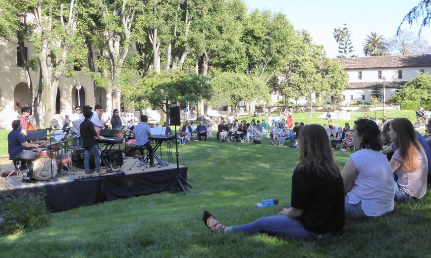 Jazz on the Lawn jazz jazz combos Santa Clara University
