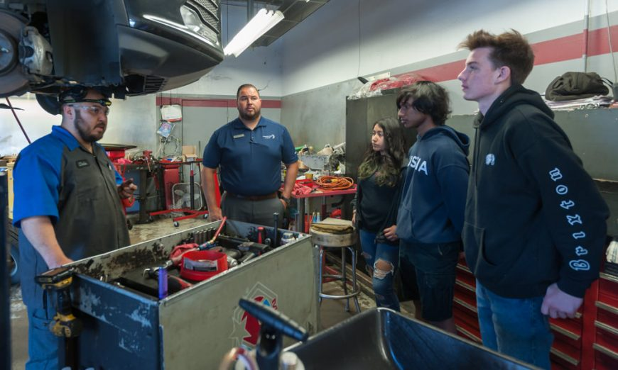 Wilcox High School CTE Frontier Ford Automotive Service and Repair Program