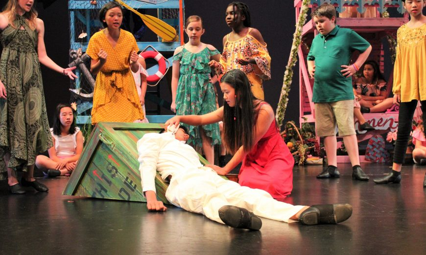 Once on This Island Jr. Roberta Jones Junior Theatre. Ti Moune and Daniel.