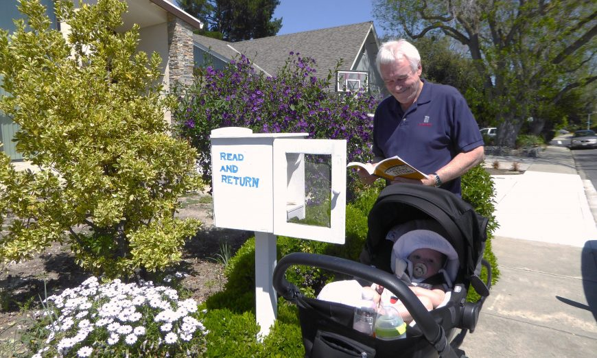 Little Free Libraries are popping up around the community. Residents are putting the little libraries in their front yards to encourage reading