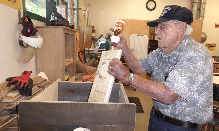 Joe Aboussleman makes the most of the Santa Clara Senior Center Woodshop classes
