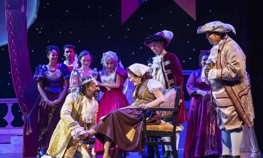 In Foothill Music Theatre production of Rodgers and Hammerstein's Cinderella, Ella controls her fate and finds her Prince Topher.