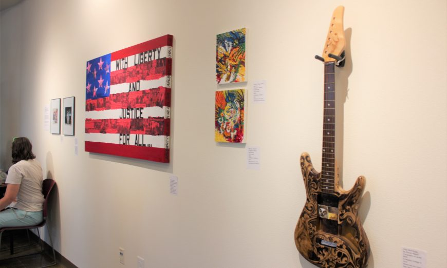 The Vargas Gallery currently has an exhibit called Homecoming, which features work from alumni Steve Dellicarpini and Elizabeth Jimenez Montelongo.