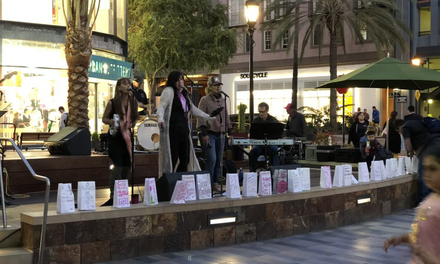 American Cancer Society is hosting its 3rd Strides Shines at Night celebration ceremony at Santana Row to celebrate those with breast cancer.