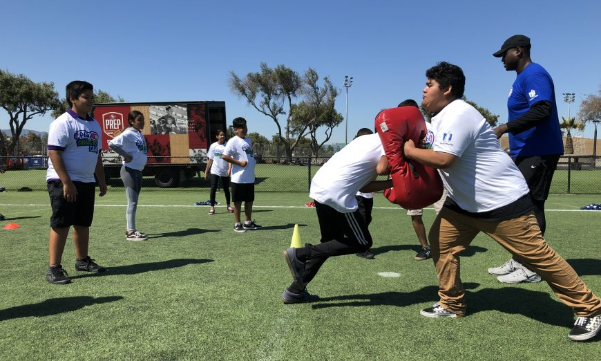 The San Francisco 49ers and NFL Play 60 Campaign brought Football Hall of Famer Anthony Munoz and Coach Andy Olds together for kids.