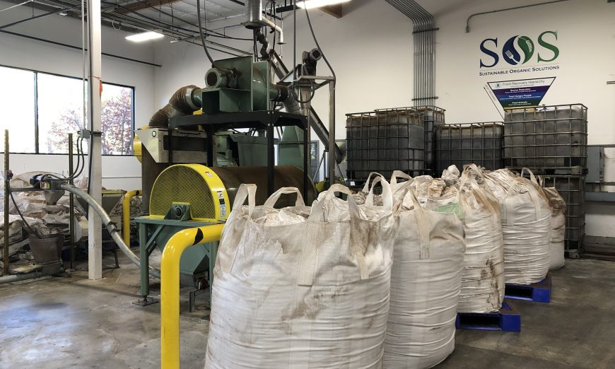 Sustainable Organic Solutions and SAFE in Santa Clara takes food scrap recycling products and turns it into feed for animals.