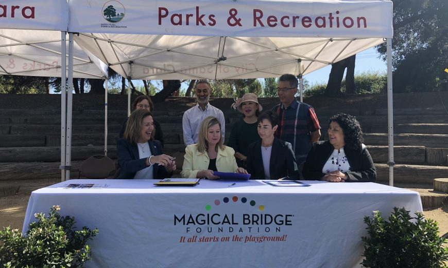 The City of Santa Clara has officially announced its partnership with the Magical Bridge Foundation. They're building an all-inclusive playground.