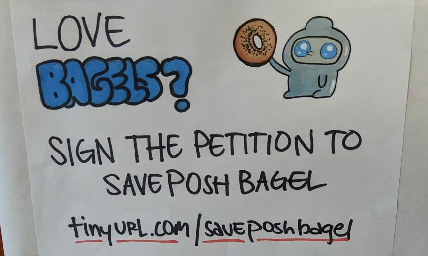 The Rivermark Posh Bagel shop may have to close its door soon. Owner, Terry Eng, has been in lease negotiations for months.