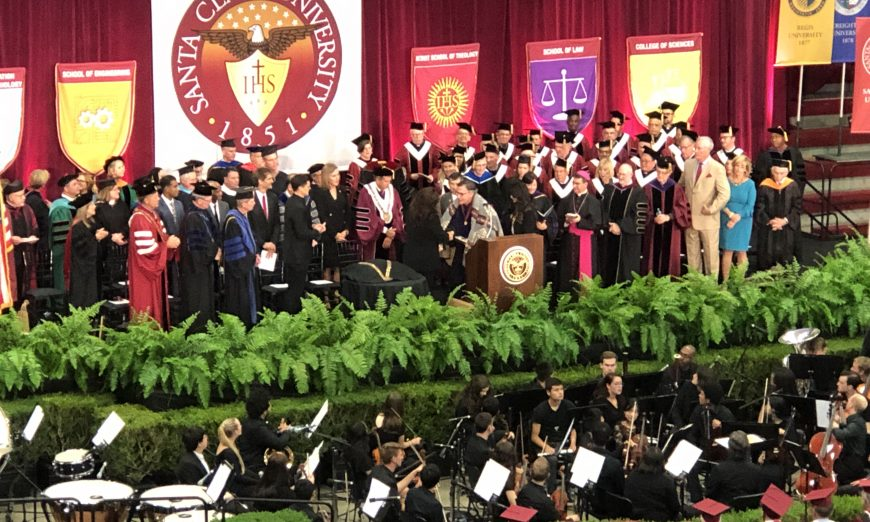 Santa Clara University welcomed Father Kevin O'Brien as their new president. O'Brien is the 29th President of the University.