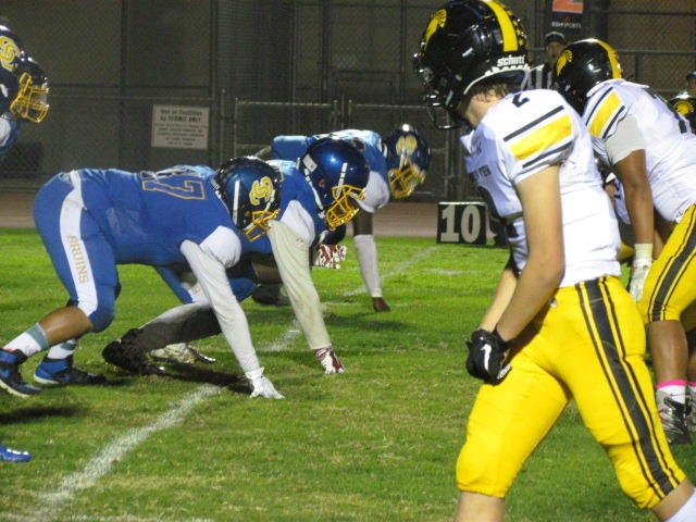 Mountain View Spartans and the Santa Clara Bruins took the field on Friday night. Spartans walked off with all the points. Anthony Taber played well.