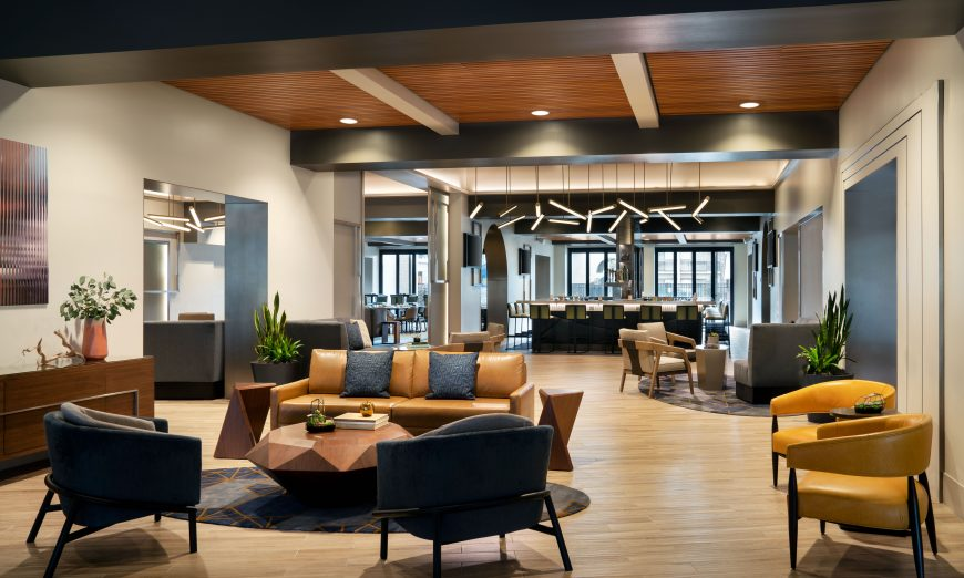 Santa Clara Marriott got a major makeover. They also introduced the new Bosc + Bartlett restaurant and the new M Club, with breakfast.