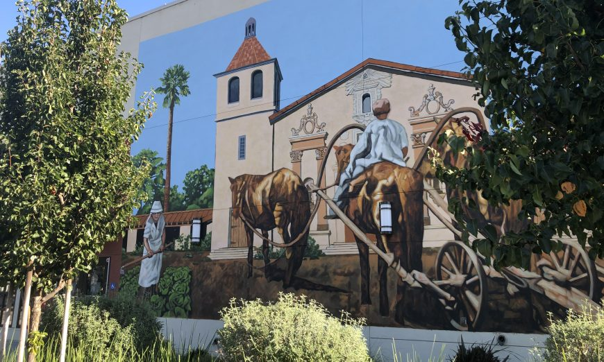 Buchser Middle School staff have voiced concerns about a new mural on their campus. The Principal has slowed work to better engage the community.