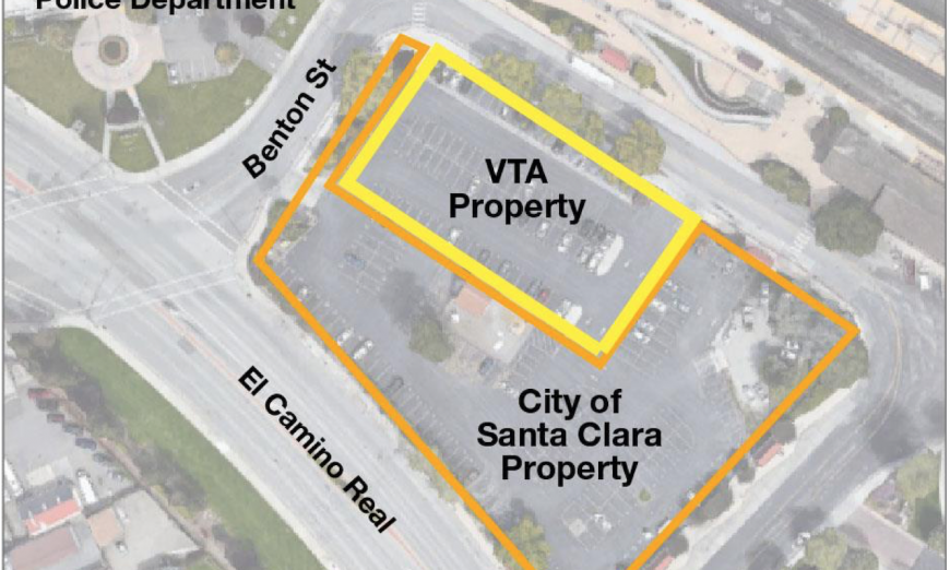 The Santa Clara Caltrain Park & Ride lot is going to be developed into affordable housing for students and other residents and retail.