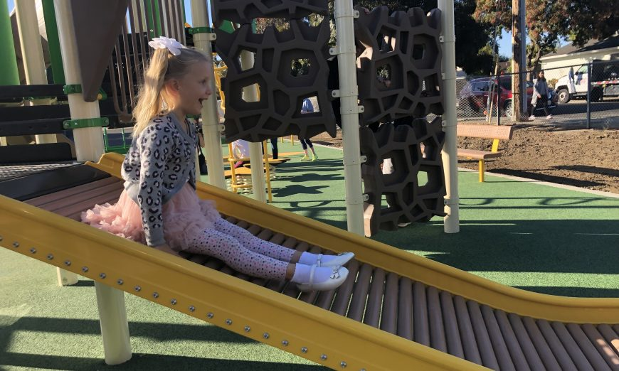 Ponderosa Elementary School has a new playground. They have introduced their new accessible playground, made for all students.