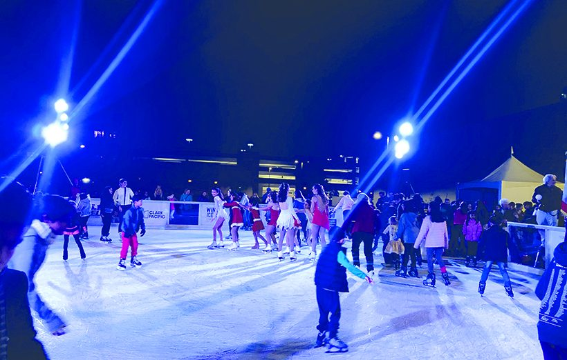 For the Holiday Season, there will be a ice rink in Downtown Sunnyvale. This is the first year that they will be offering ice skating.