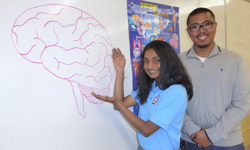 Stratford Raynor Middle School student Diya Pendyala placed in the North South Foundation 2019 National Brain Bee. This Sunnyvale student is a brainy bee.