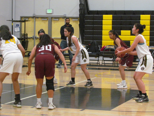 Wilcox varsity basketball team is growing into their new team. Star players Natalie Getz and Amanda McDowell did great work in their last game.