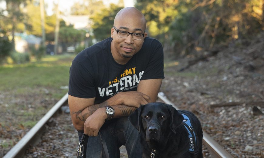 Sean Brown says Fake Service Dogs put him and Service Dog his Pella at risk. Sean is a US veteran and has post-traumatic stress disorder.