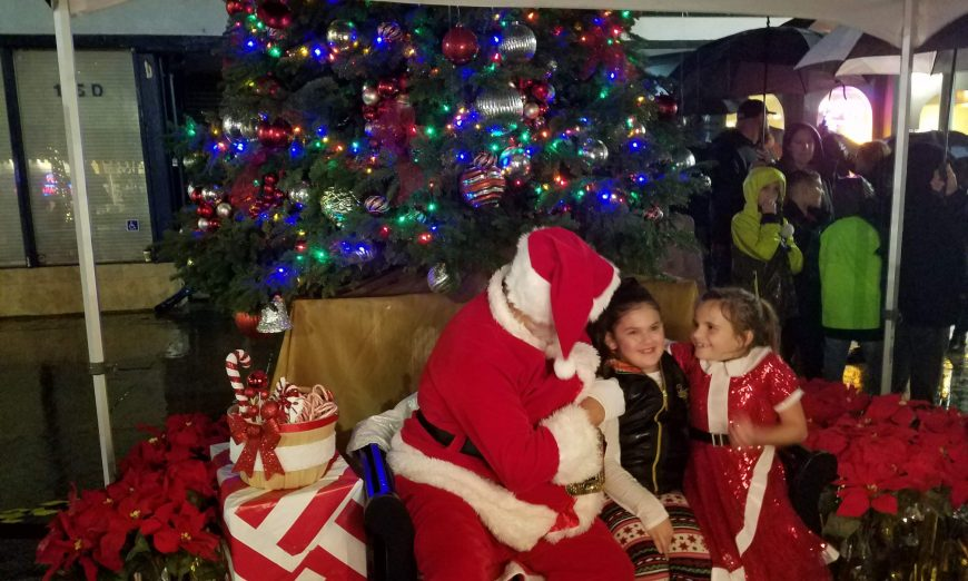 The annual Sunnyvale Tree Lighting was a little wet, but the show still went on. People still showed up to support the Downtown.