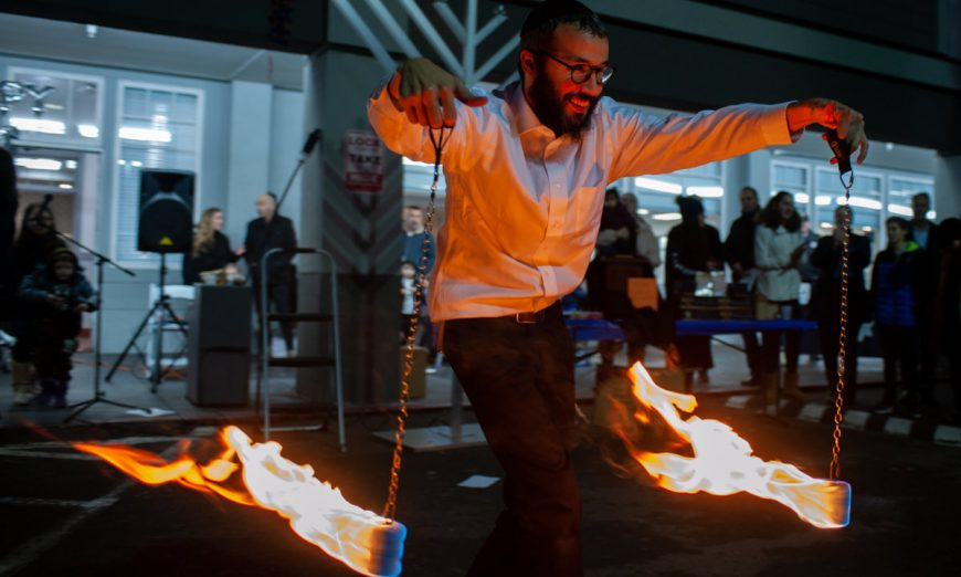 Chabad of Santa Clara celebrated Chanukah, or the Festival of Lights, with the Santa Clara. They held a big festival with a Menorah lighting.