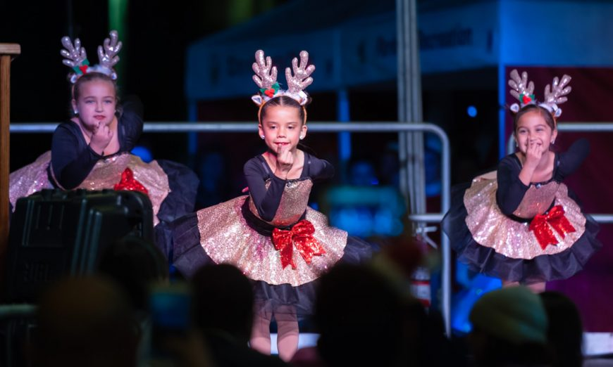 The family of Bill Shaddle was the Honorary Tree Lighter for Santa Clara's109thAnnual Holiday Tree Lighting. There was rain, but that didn't stop the fun.