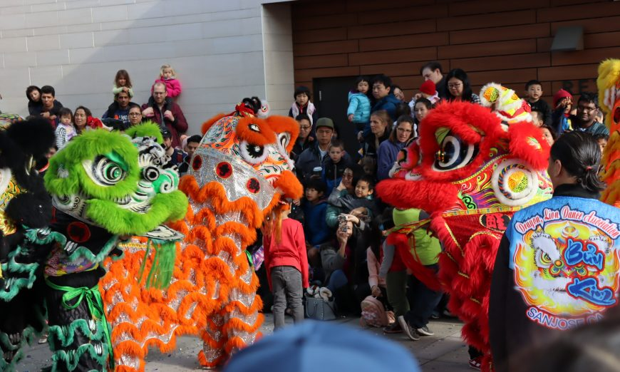 Lunar New Year at the Northside Branch Libaray in Santa Clara. There were two lion dances by the Dragon and Lion Dance Association of San Jose.