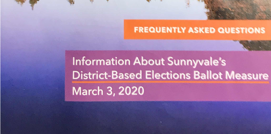 No Directly Elected Sunnyvale Mayor says that the City of Sunnyvale has violated FPPC rules with information about Measure B, aka Elected Mayor measure.