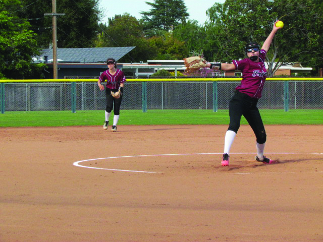 The Fremont Firebirds softball squad are trying hard to keep up this season. Ashley and Samantha Densing are the only two seniors on the team.
