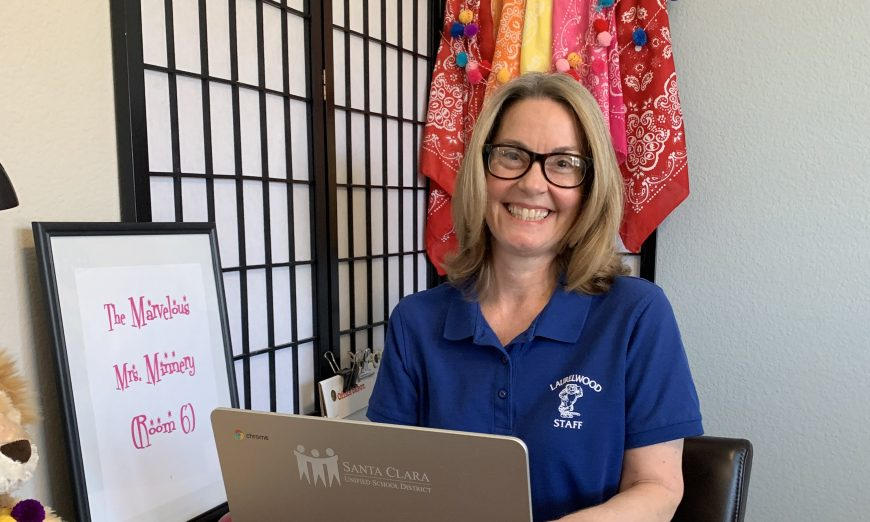 Margie Minnery and other teachers at Laurelwood Elementary School are trying to get used to the new Distance Learning format.