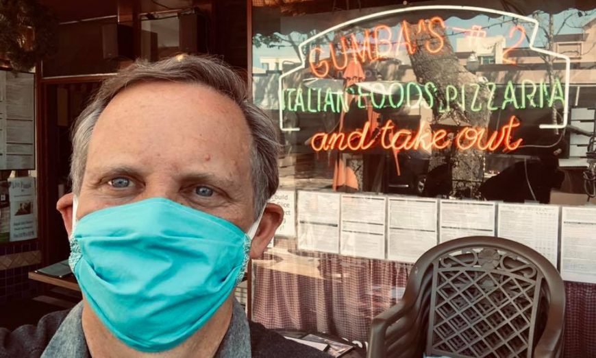 Sunnyvale Mayor Larry Klein spends his lunch supporting a local Sunnyvale restaurant in the time of Coronavirus. He also tries to keep residents informed.