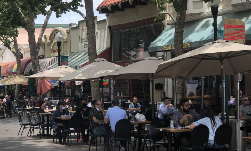 Downtown Sunnyvale has agreed to close Historic Murphy Avenue to traffic so that restaurants can expand their outdoor dining areas.