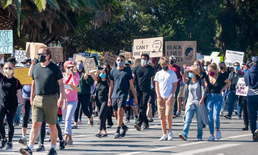 There was a peaceful protest for the Black Lives Matter movement in the City of Sunnyvale. Organizer Chris Gough was impressed with the turnout.