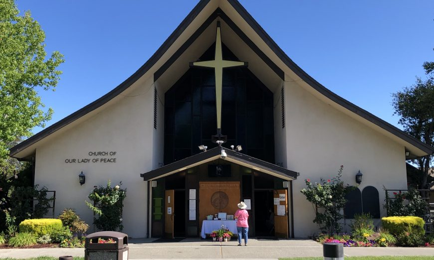 Now that small religious gatherings are allowed, local churches like Our Lady of Peace Church and First Presbyterian Church try to serve thier community.