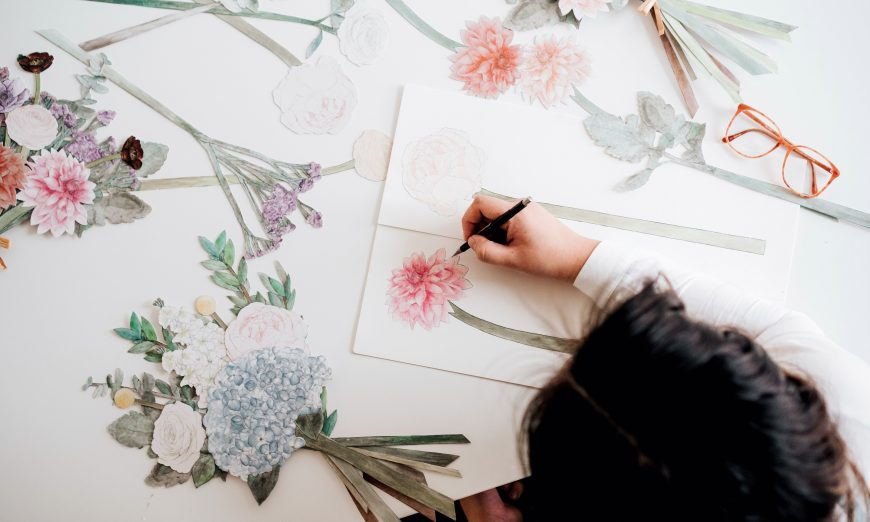 Hara Chung of Bouquets En Papier and Sherry Lee of Sherry Lou Studio are collaborating to make art and donate to One Tree Planted.