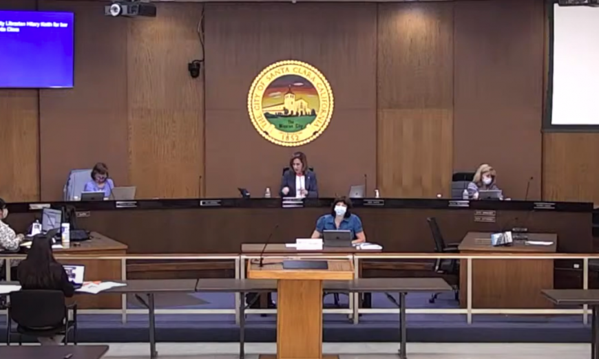 The City Council argued over Commissions. Santa Clara Vice Mayor Karen Hardy and Chahal don't want to micromanage. They talked about the 49ers lawsuit.