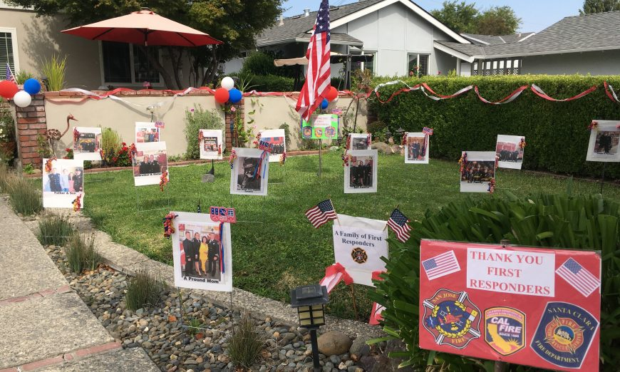 The Santa Clara Parade of Champions held a virtual celebration to honor Pandemic Heroes. They announced the winners for the yard display.