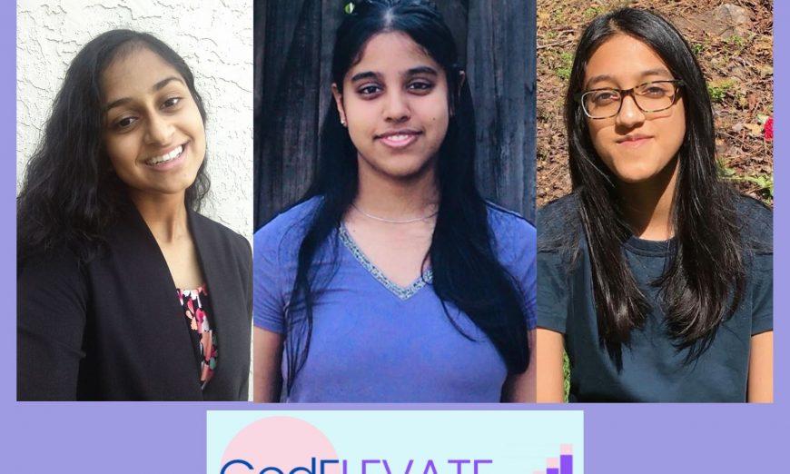 Riteka Murugesh, Nikita Senthil, and Safaa Hussain are all behind an organization called CodELEVATE, a tech education program.
