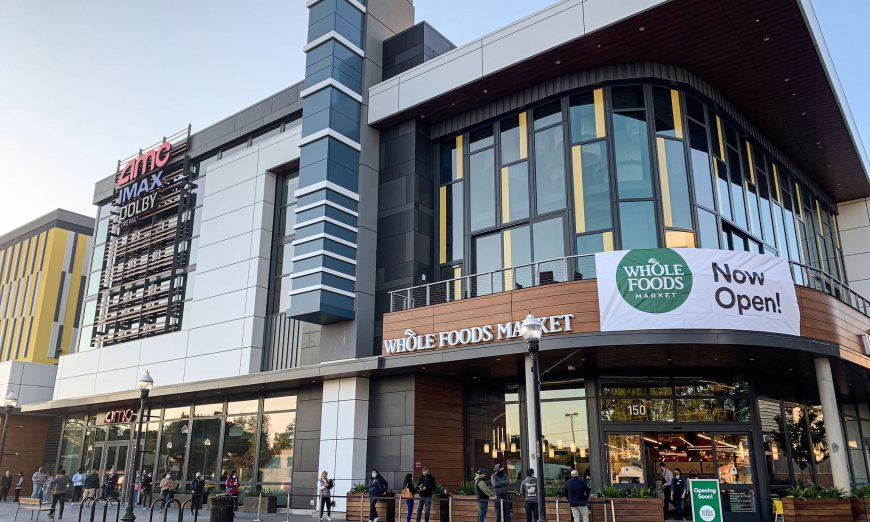 Downtown Sunnyvale welcomed the new Whole Foods and AMC Theater. However, the movie theatre had to quickly close do to COVID-19 restrictions.