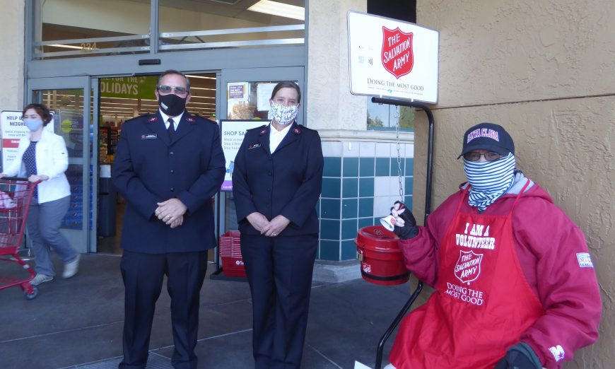 Tom Sullivan is a volunteer for the Salvation Army in Santa Clara. He is a red kettle bell ringer outside of Lucky's on Saratoga Avenue.