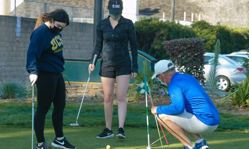 The Santa Clara Bruins Girls Golf team is now able to play their season. Janna Andaya and the rest of her team were happy to get out of the house.
